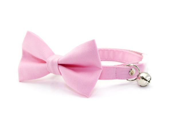 Pink Bow Tie Cat Collar