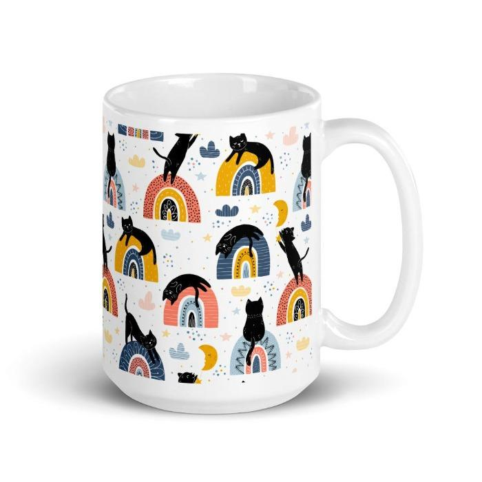Rainbow Cat Mug | Cat Coffee Mug