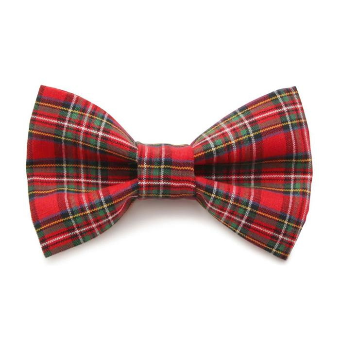 Plaid Cat and Dog Bow Tie
