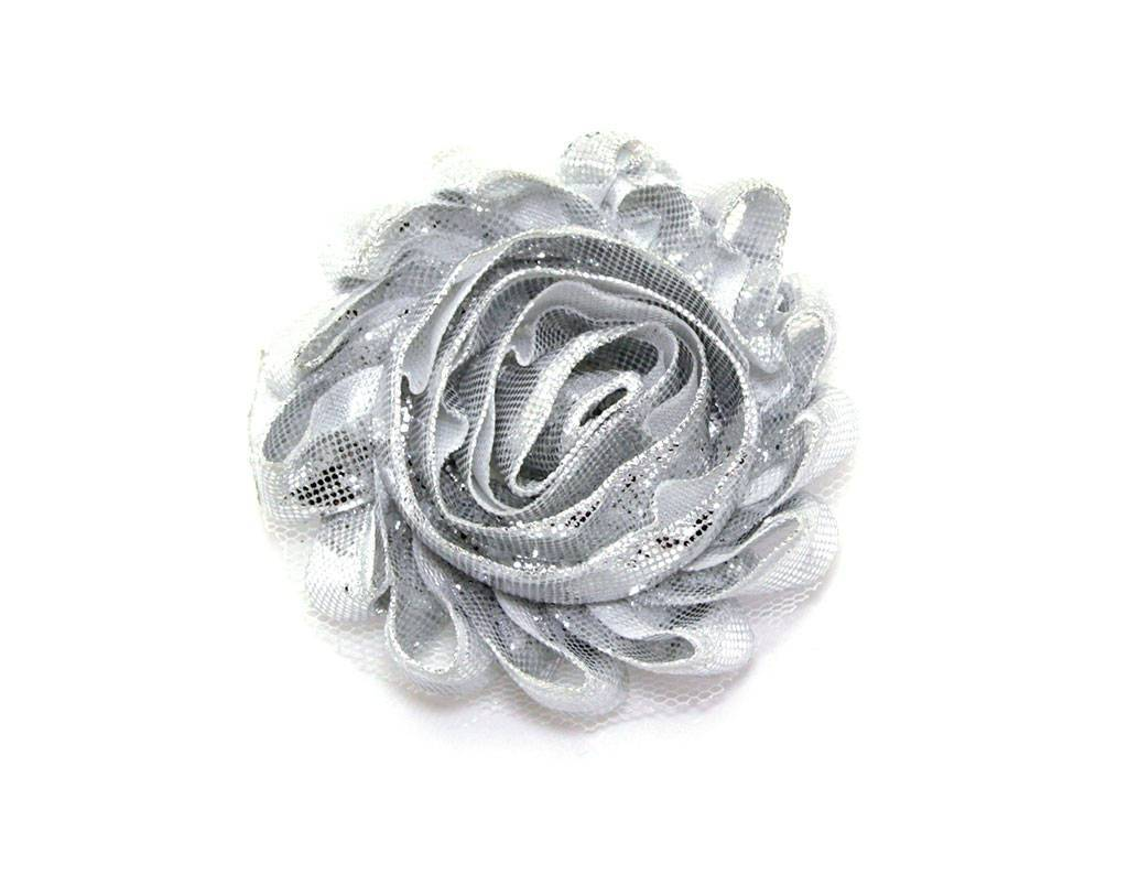 Pet Flower Corsage - Shiny Silver
