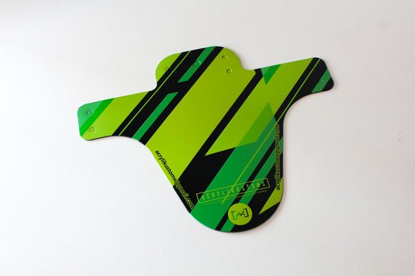 Mudguard (Green Stripes)