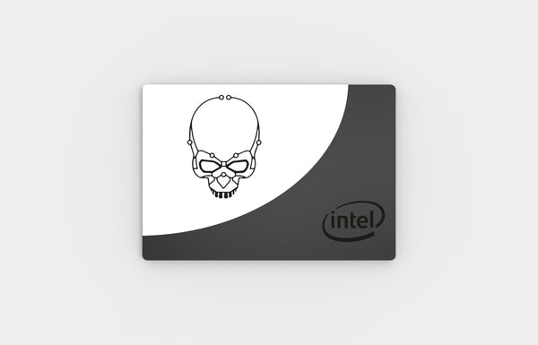 SSD Cover (Intel Skull White)