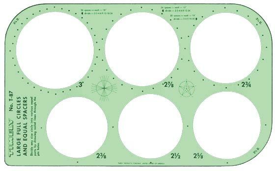 Timely® Full Circles & Equal Spacer Template