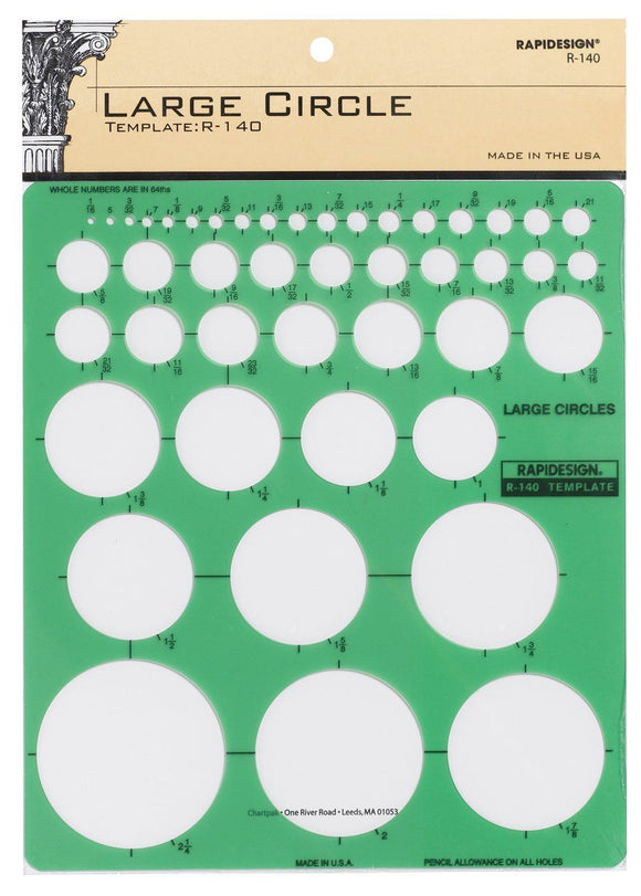 RAPIDESIGN® Large Circle Template - Modern School Supplies, Inc.