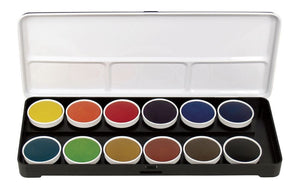 Finetec Watercolor Paint Transparent 12-Color Set