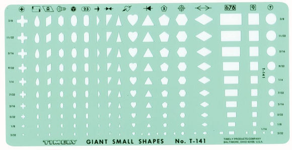 Timely® Giant Small Shapes Template