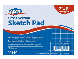 "Alvin® Cross Section Sketch Pad 7"" x 5"" - Modern School Supplies, Inc."