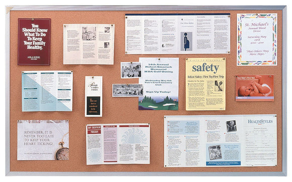 Ghent® Traditional Cork Bulletin Boards