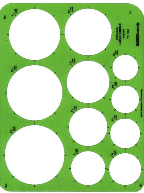 Alvin® Large Circles Template - Modern School Supplies, Inc.