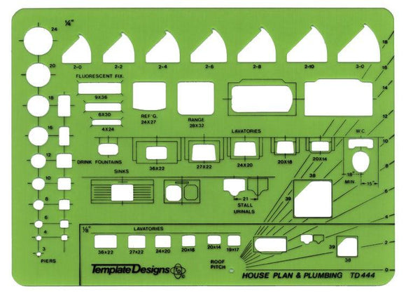 Alvin® House Plan & Plumbing Template - Modern School Supplies, Inc.