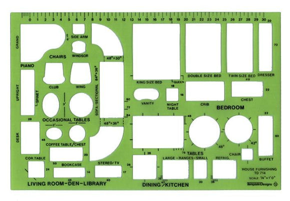 Alvin® Design Templates House Furnishings Template - Modern School Supplies, Inc.