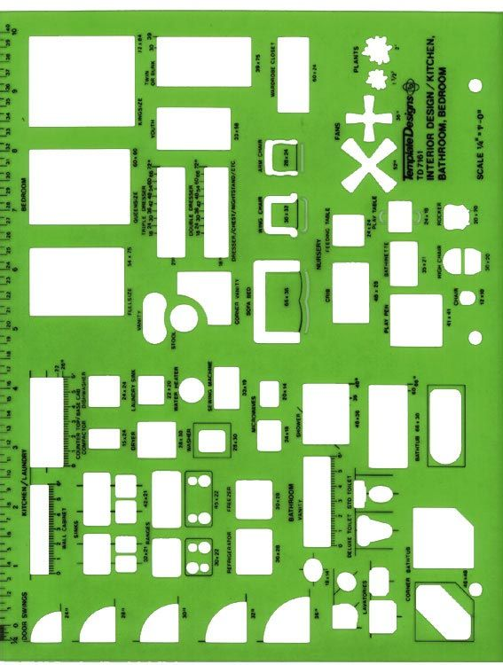 Alvin® Interior Design Kitchen Bed & Bath Template - Modern School Supplies, Inc.
