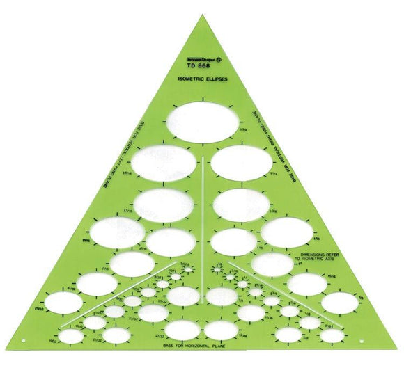 Alvin® Isometric Ellipses Template - Modern School Supplies, Inc.