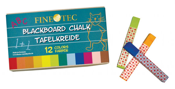 Finetec Blackboard Chalk 12-Color Set