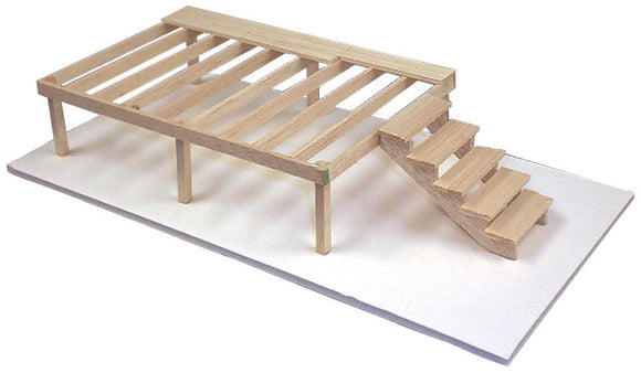 Modern™ Deck and Stairs Classroom Balsa Kit
