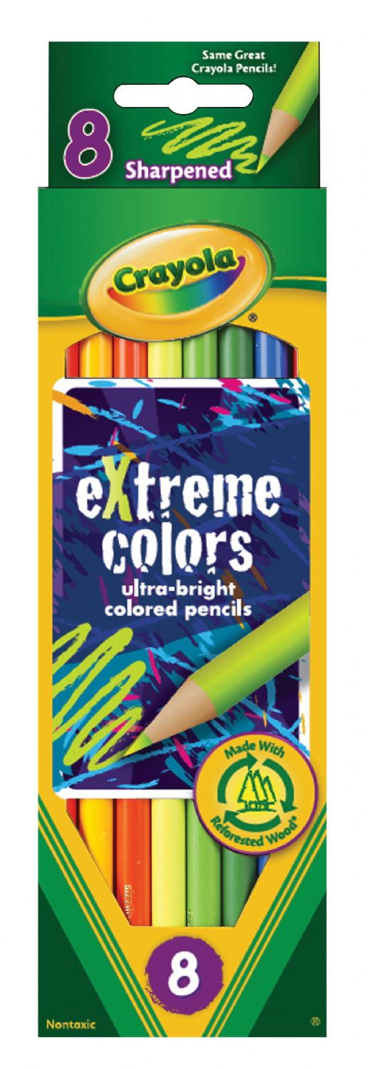 Crayola® Extreme Colors Colored Pencil 8-Color Set