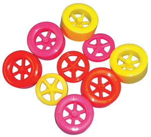 ABS Dragster Neon Colored Wheel Assortment, 25 sets of 3 - Modern School Supplies, Inc.