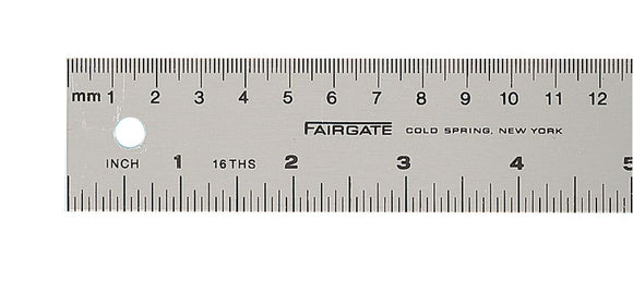 Fairgate® Aluminum English/Metric Ruler