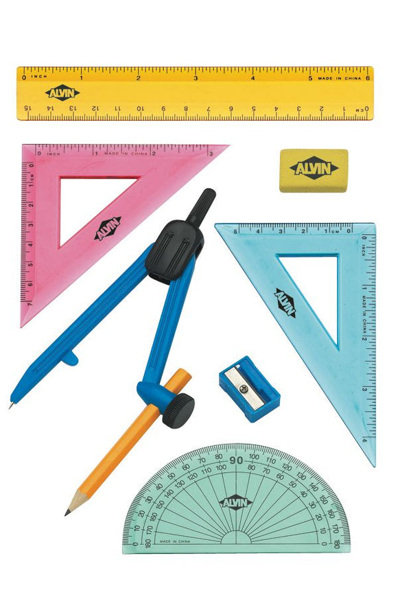 Alvin® 8-Piece Geometry Set with Compass - Modern School Supplies, Inc.
