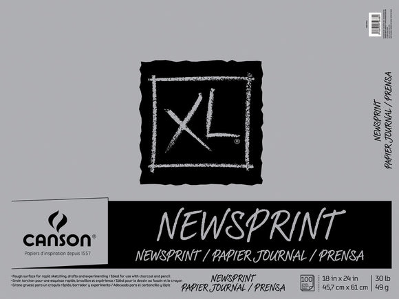 Canson®XL® Newsprint Fold Over Bound Pads - Modern School Supplies, Inc.