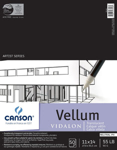 "Canson®Artist Series 11"" x 14"" Vellum Sheet Pad - Modern School Supplies, Inc."