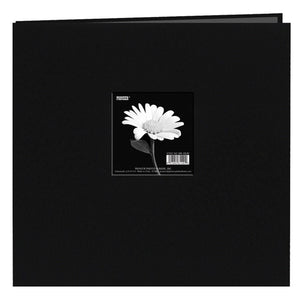 Pioneer® 12 x 12 Fabric Frame Scrapbook Deep Black