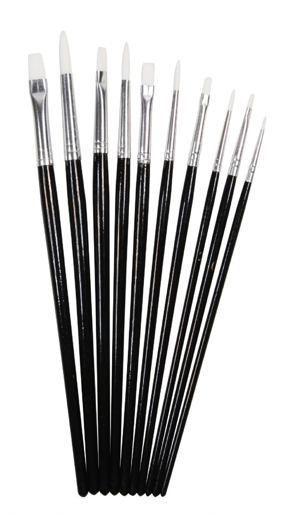 Heritage Arts™ 10-Piece Short Handle Hobby Brush Value Set - Modern School Supplies, Inc.