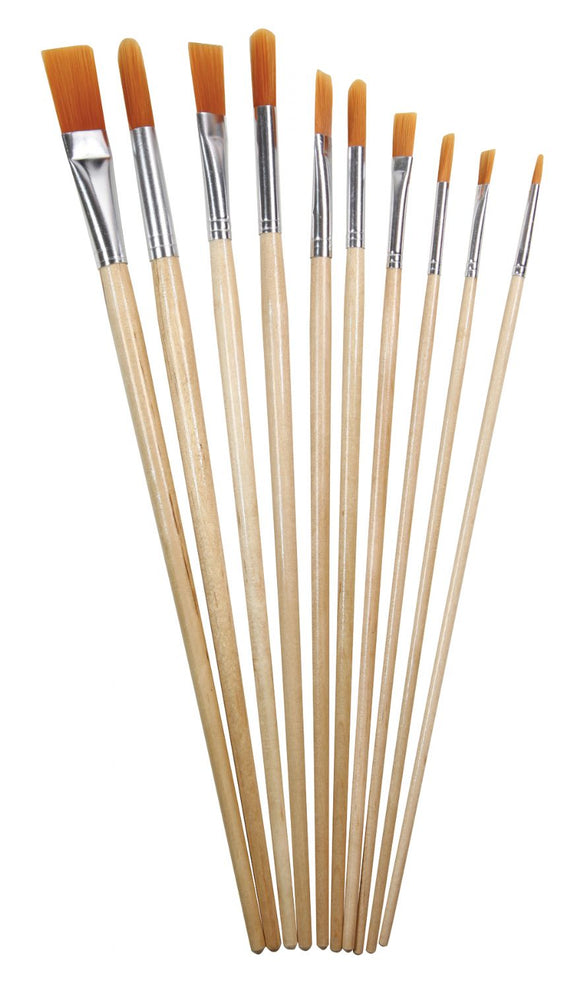 Heritage Arts™ 10-Piece Long Handle Acrylic Brush Value Set