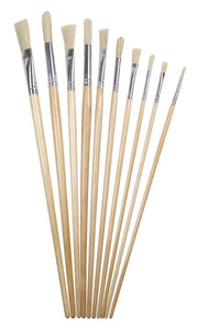 Heritage Arts™ 10-Piece Long Handle Oil Brush Value Set - Modern School Supplies, Inc.