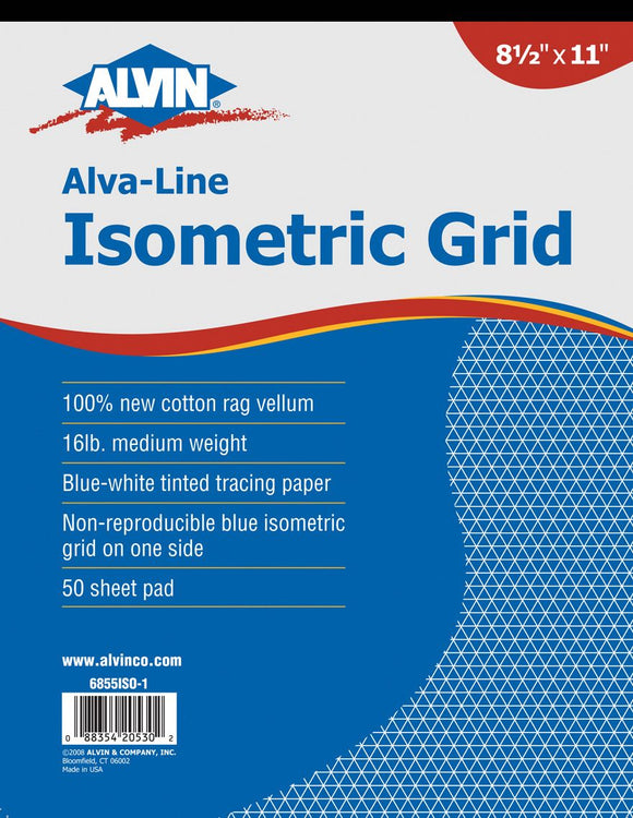 ALVIN® Alva-Line Non-Repro Isometric Grid Pads - Modern School Supplies, Inc.