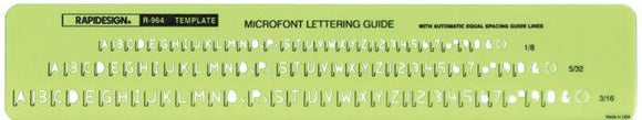 Rapidesign® Microfont Guide
