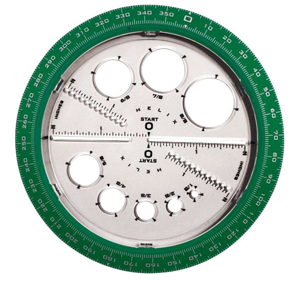 HELIX® Protractor & Compass (Angle & Circle Maker)