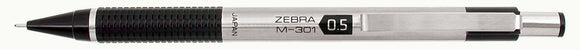 ZEBRA® M-301™ Stainless Steel Mechanical Pencil, .05mm