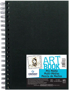 "Canson® ArtBook™ 7"" x 10"" Mix Media Wirebound Book - Modern School Supplies, Inc."