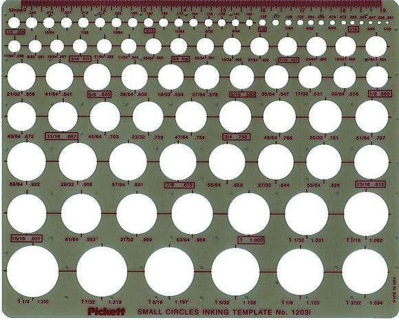 Pickett® Small Circles Template