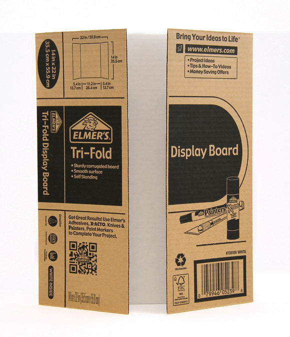 Elmer's® Mini Tri-Fold Corrugate Display Board