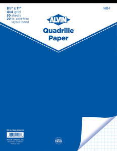 Alvin® Quadrille Papers - Modern School Supplies, Inc.