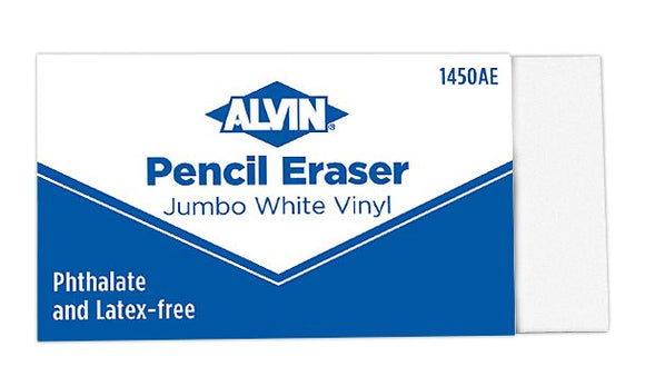 Alvin® Jumbo White Pencil Erasers 12/Box - Modern School Supplies, Inc.