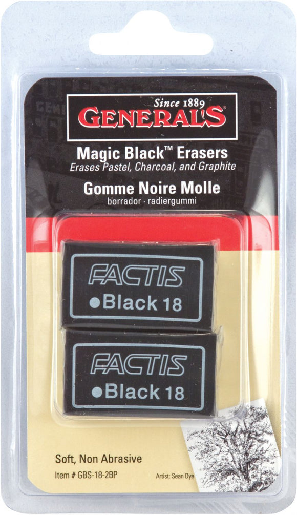 General's® Magic Black Soft Erasers