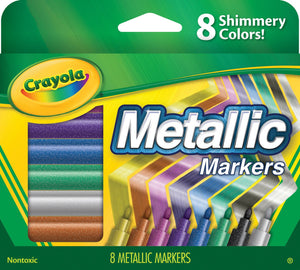 CRAYOLA® Metallic Markers 8-Pack – CLEARANCE