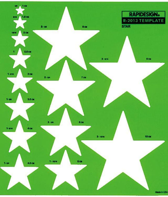 Rapidesign® Metric Star Template