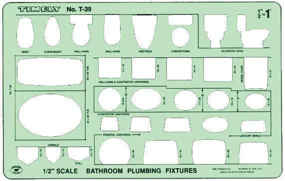 TIMELY® Bathroom Plumbing Template