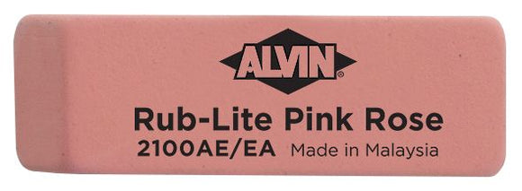 Alvin® Rub-Lite Pink Rose Soft Erasers 40/Box - Modern School Supplies, Inc.
