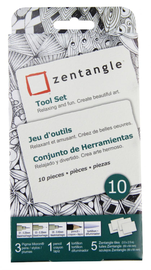 Pigma® Micron® Zentangle ATC White Tile Set