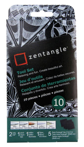 "ZENTANGLE® 3 1/2"" Black Tile Set - Modern School Supplies, Inc."
