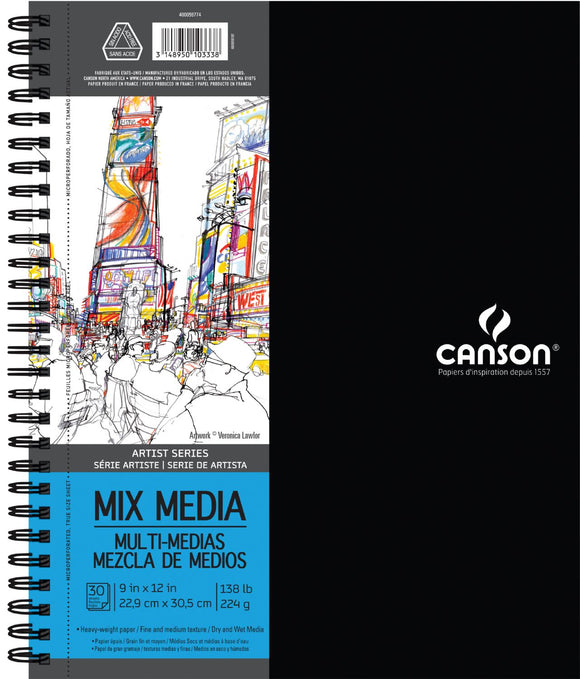 Canson®Artist Series Mixed Media Wire Bound Pads - Modern School Supplies, Inc.