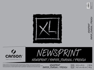 "Canson®XL® 18"" x 24"" Newsprint 50-Sheet Pad (Fold Over)"