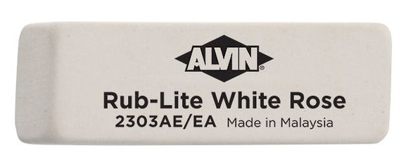 Alvin® Rub-Lite White Rose Soft Erasers 40/Box - Modern School Supplies, Inc.