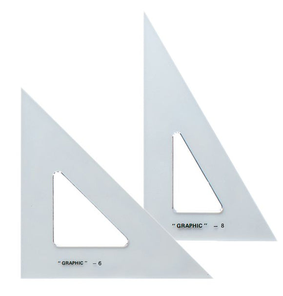 ALVIN® Academic Transparent Triangle Sets, 30°/60° and 45°/90° - Modern School Supplies, Inc.