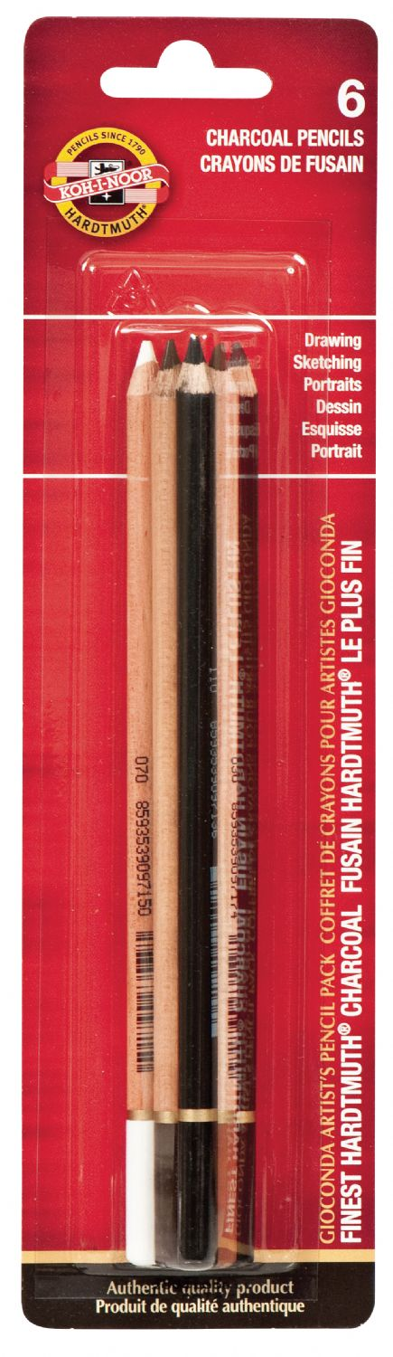Koh-I-Noor® Gioconda Charcoal Pencils 6-Set
